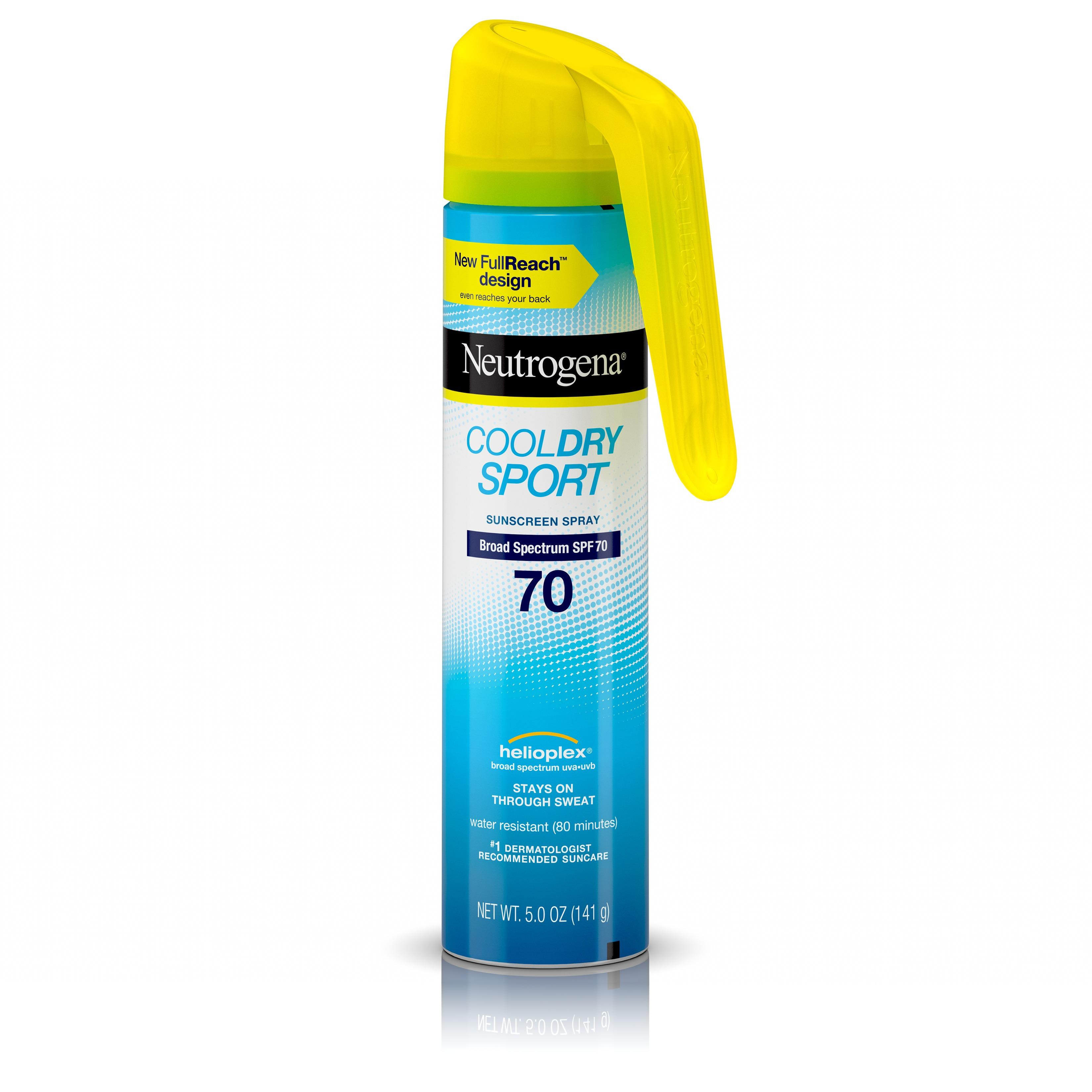 Neutrogena CoolDry Sport Water-Resistant Sunscreen Spray, SPF 70, 5 oz