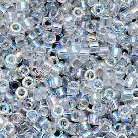 Miyuki Delica Seed Beads 11/0 Crystal AB DB051 7.2 (Miyuki 11/0 Delica Beads Crystal)