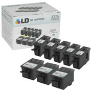 LD Compatible Replacement for Kodak 30XL /30 8 PK High Yield Cartridges Includes: 5 1550532 HY Black, and 3 1341080 HY Color for use in Kodak Hero 3.1, 5.1, ESP C310, C315, & Office 2150, 2170