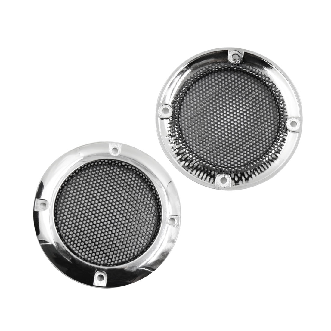 2Pcs 2 Inch Silver Tone Car Audio Woofer Subwoofer Mesh