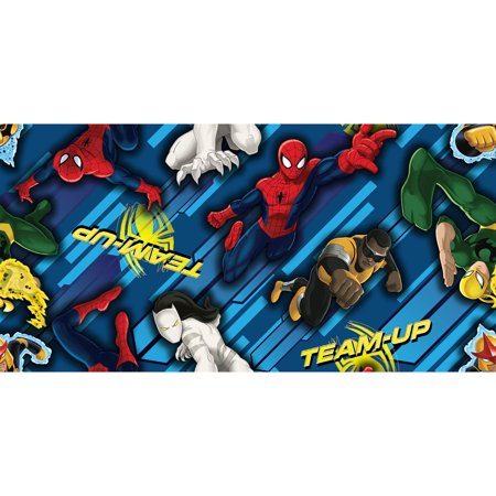 Man Made Fiber Fabrics - Spider-Man Team Up Spider-Man and Friends Toss Fabric by the Yard
