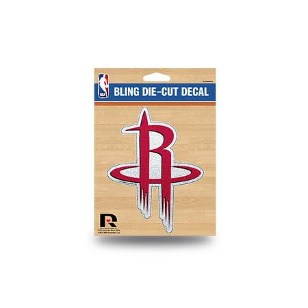 Stickers Dice - Houston Rockets NBA Color Glitter Bling Sticker Decal Medium Die Cut