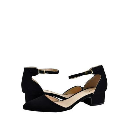 Closed Toe Heels (Qupid Swing 01 Women's Pointy Closed Toe Heel)