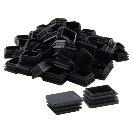 70pcs 40 x 50mm Plastic Rectangle Tube Inserts Cover Desk Feet Floor Protector - image 7 of 7