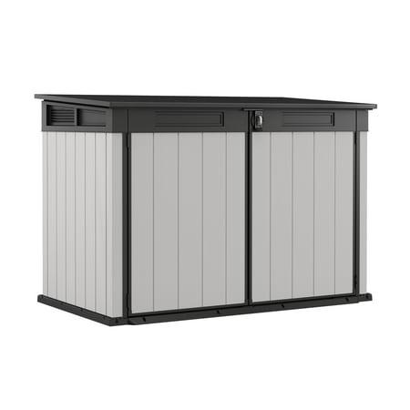 Keter Premier Jumbo Horizontal Shed, Resin Outdoor Storage, Gray -  240794