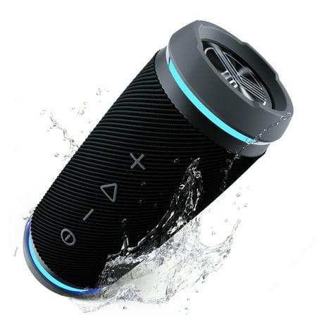 TREBLAB HD77 Bluetooth Portable Speaker Wireless - 25W Loud Surround Sound w/ Bass, True Wireless Stereo TWS Dual Pairing, 20H Battery, Cordless Speakerphone for Outdoor Sports, IPX6 Waterproof