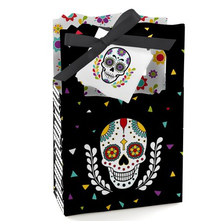 Day Of The Dead - Halloween Sugar Skull Party Favor Boxes - Set of 12 (Halloween Party Mystery Box)