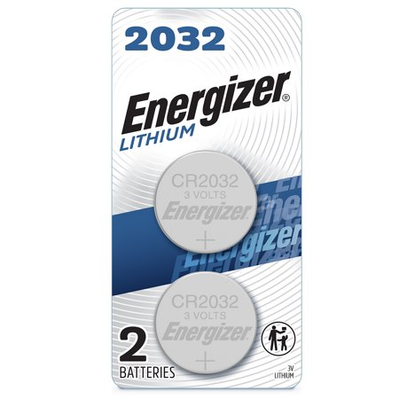 Energizer 2032 Batteries, Lithium Coin Cell 3V Batteries (2 Pack) Replacement Coin Cell
