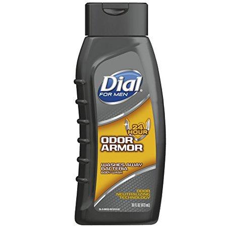 Dial For Men Antibacterial Body Wash, Odor Armor 16 oz (Pack of 2)
