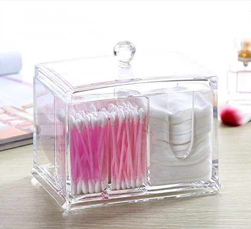 Cotton Ball 100% Acrylic Swab Holder and Cosmetic Pads