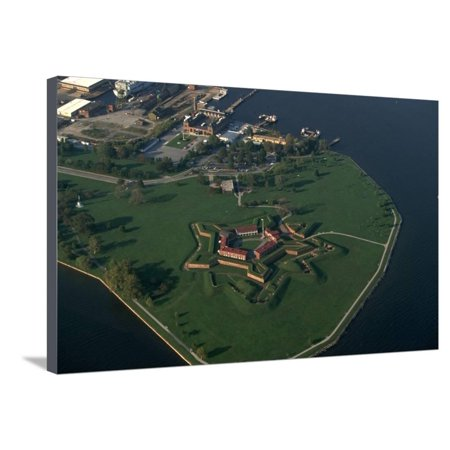 Aerial View of Fort Mchenry National Monument in Baltimore Stretched Canvas Print Wall Art By Paul - Party City Mchenry