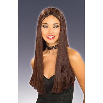 WIG-LONG BROWN - Brown Long Hair Wig