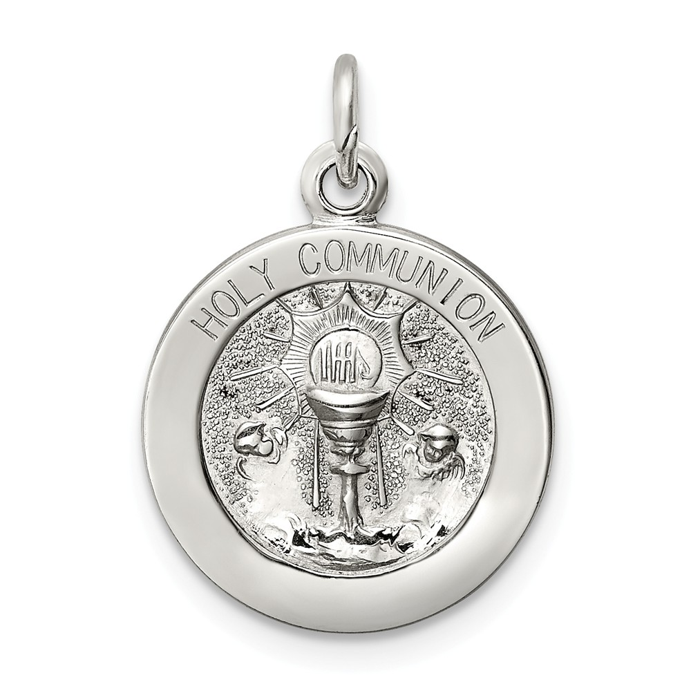 Sterling Silver Engravable Holy Communion Medal