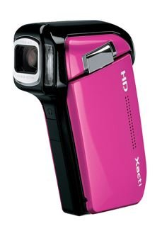 Sanyo Xacti VPC-HD800 5x Optical Zoom High Definition Digital Media Camcorder (Pink) (International Model) by Sanyo