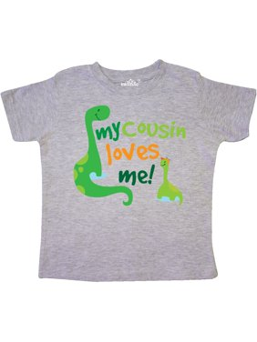 07e51a3b5b4 Product Image My Cousin Loves Me dinosaur Toddler T-Shirt