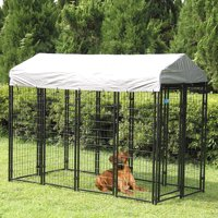 Jaxpety Large Outdoor Dog Kennel Cat Pet Shelter Waterproof Cover Shade Enclosure House Cage