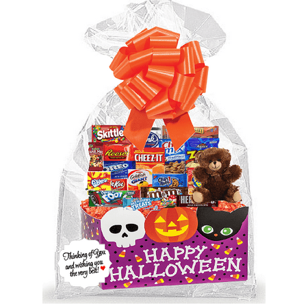 Happy HalloWeen Thinking Of You Cookies, Candy & More Care Package Snack Gift Box Bundle Set - Arrives in 3-4Business - Happy Halloween Candy