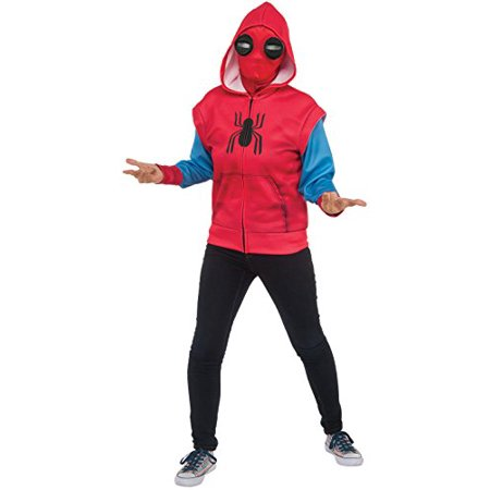Rubies Costume Spider Man  Homecoming Childs  Sweats  Spider Man Costume Hoodie  Multicolor  Large
