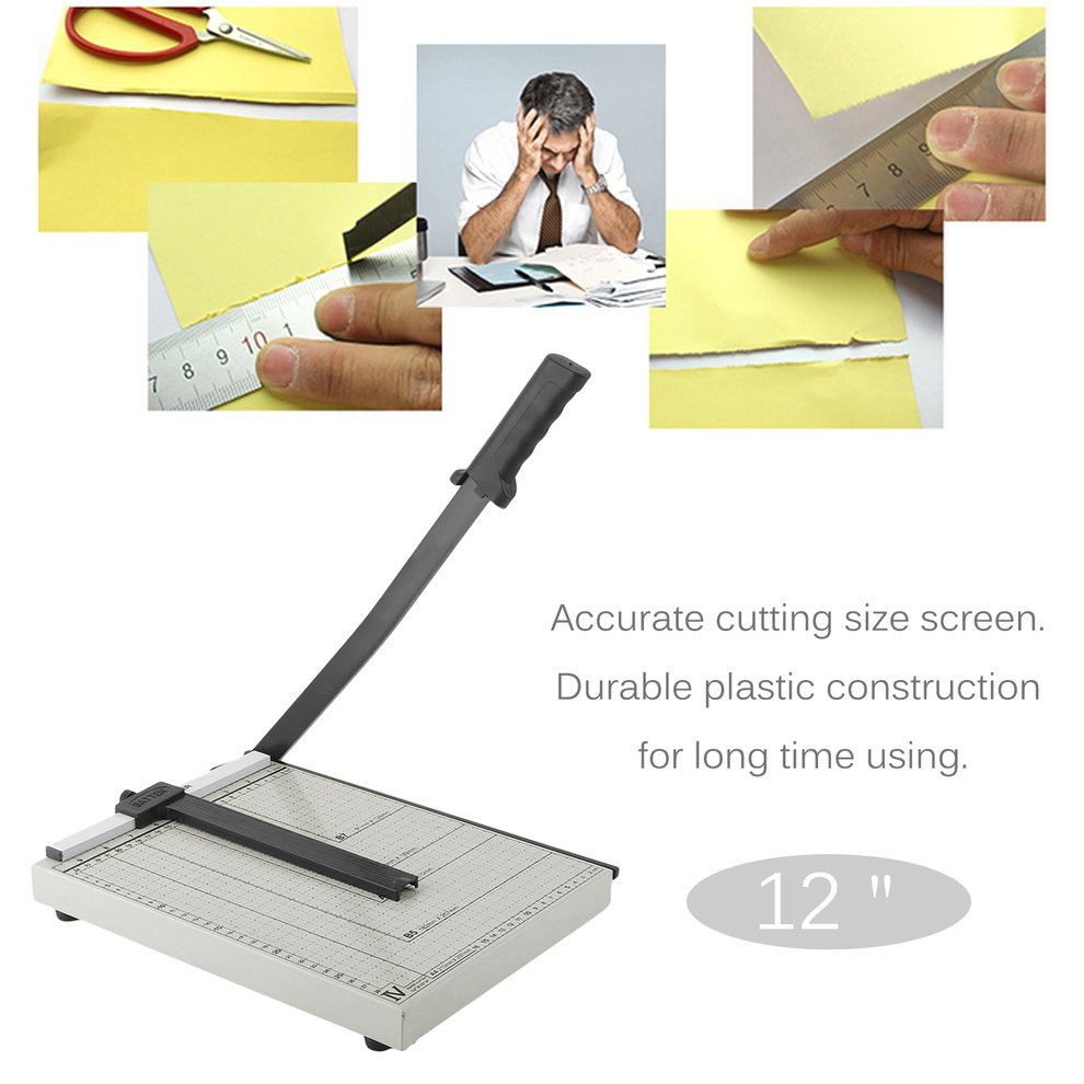 12 Inch Paper Trimmer Paper Cutter A4 B5 A5 B6 B7 Cut Length 12 SHeets Capacity Office School Home Supplies by