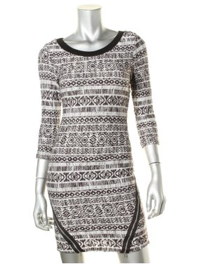370fe2ca4 Product Image Trixxi Womens Juniors Printed 3/4 Sleeves Sweaterdress