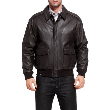 Landing Leathers Air Force Mens A-2 Goatskin Leather Flight Bomber Jacket (Regular & Tall)