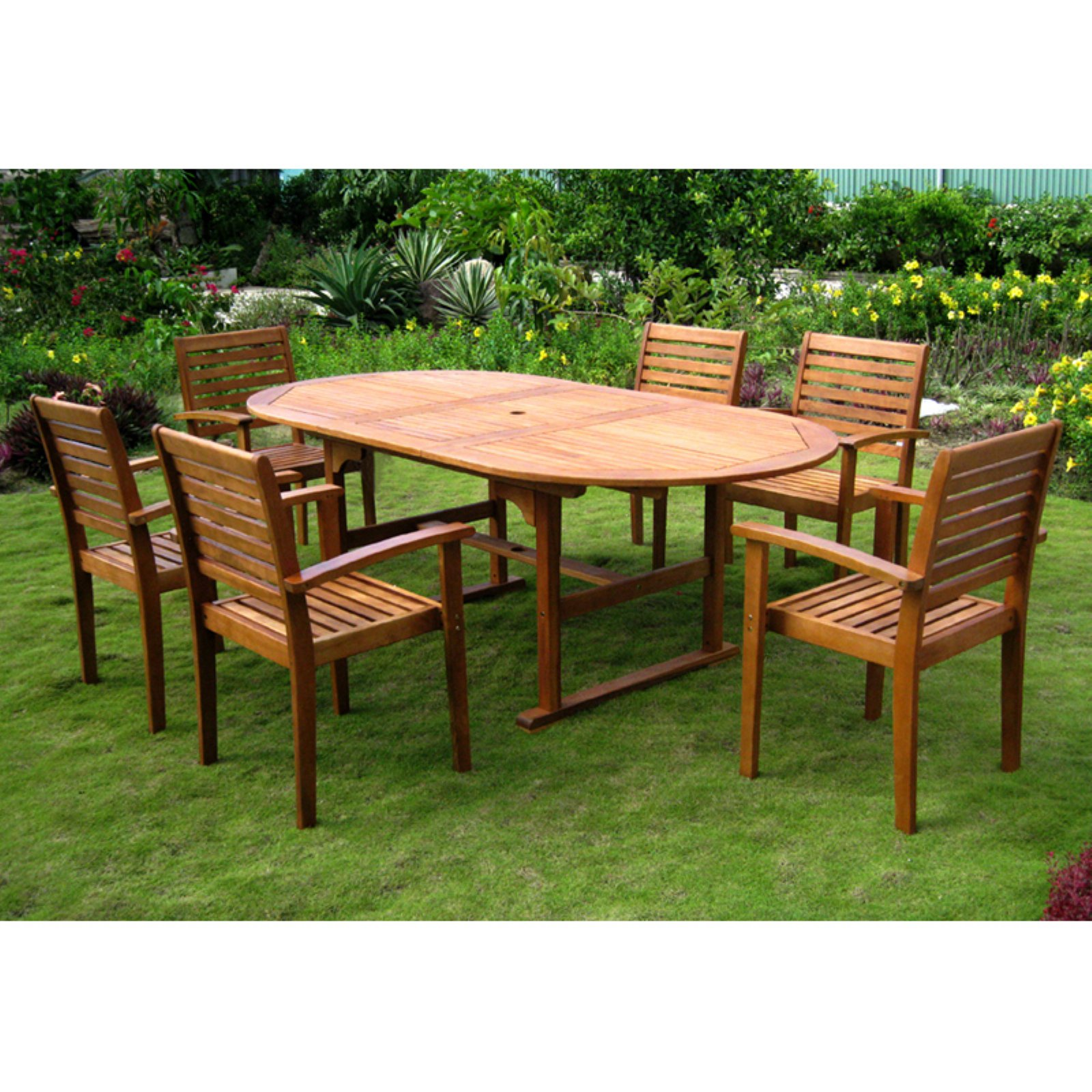 International Caravan Royal Tahiti Cordova Patio Dining Set