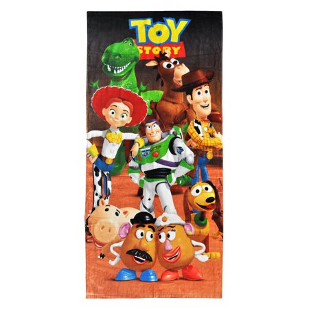 Kids Toy Story Characters Beach Towel 58x28 Woody Jessie Buzz Lightyear Buzz Lightyear Towel