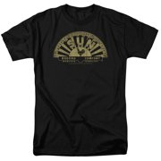 Sun Records Tattered Logo Mens Short Sleeve Shirt