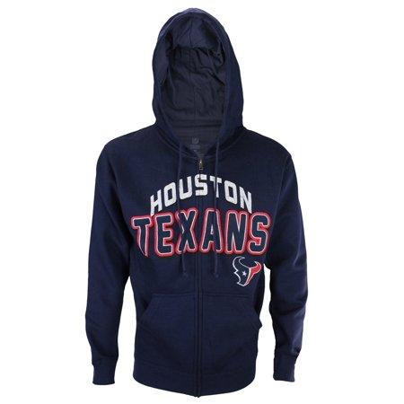 Houston Texans NFL Football Men's In The Pocket Full Zip Fleece Hoodie, Navy