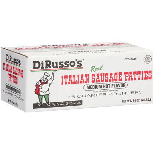 Dirusso's Medium Hot Sausage Pattie