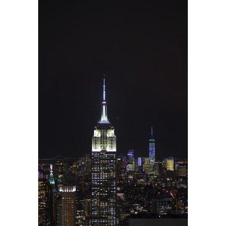 LAMINATED POSTER World Trade Center Empire Building Stade Night Poster Print 24 x 36