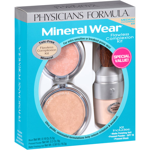 Physicians Formula Flawless Complexion Kit, Medium, 3 pc