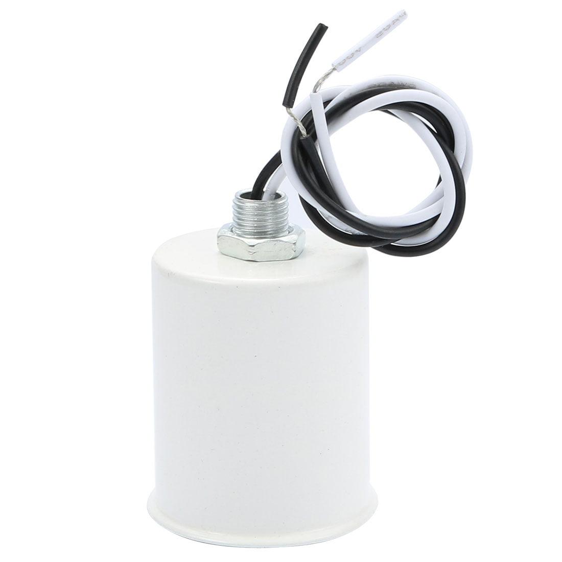 Unique Bargains E27 Ceramic Screw Base Round Light Bulb Lamp Socket Lampholder Adapter White - image 3 of 3
