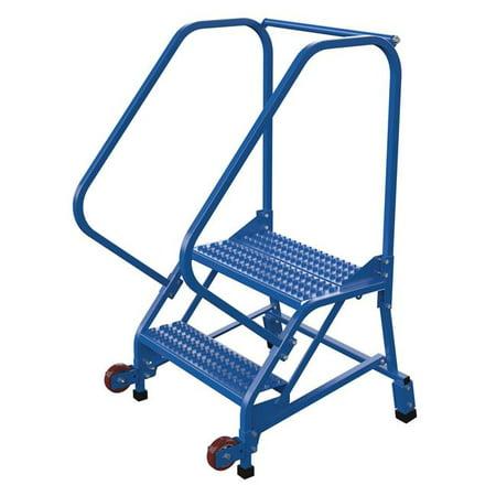Vestil Manufacturing LAD-TRN-50-2-G 50 deg Tip-N-Go Mobile Ladder, Grip Strut - 2 Steps