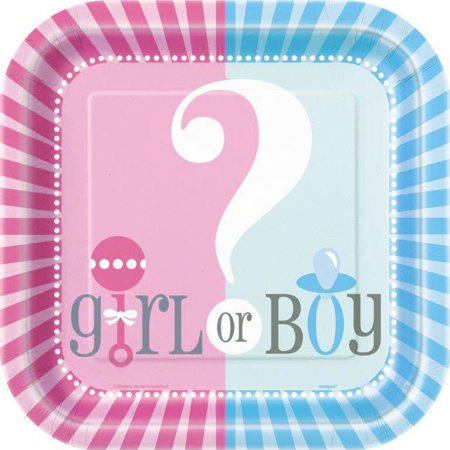 Gender Reveal Party Paper Dinner Plates, 9in, 8ct - Party Paper Outlet
