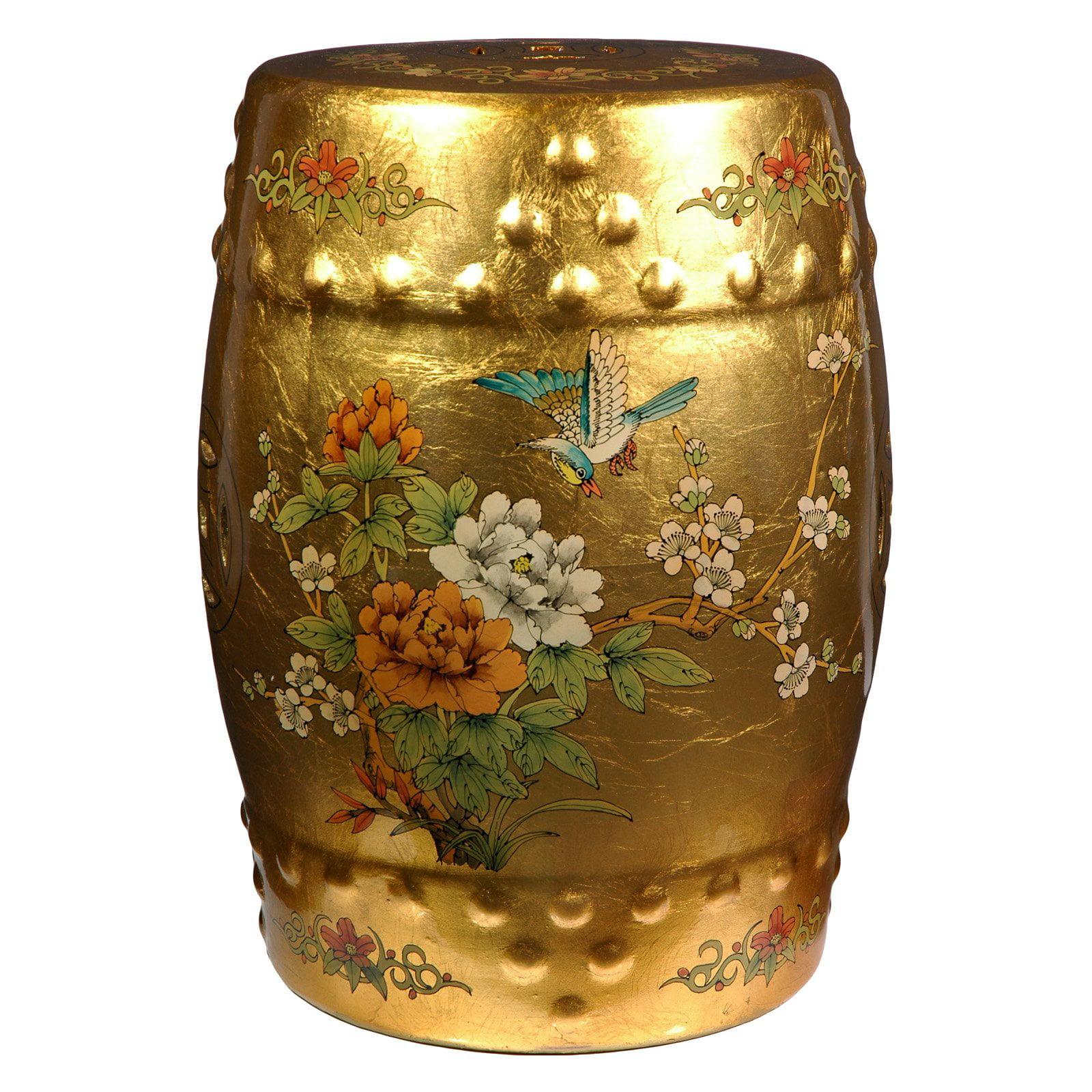 Oriental Furniture Golden Garden Stool