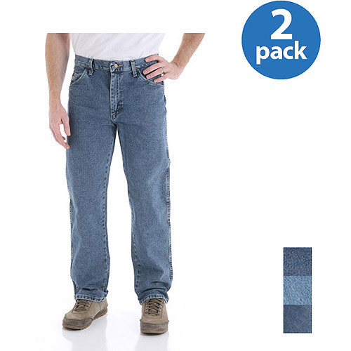 Wrangler Mens Regular Fit Jeans 2-Pack