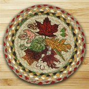 Earth Rugs 80-024AL Round Miniature Swatch, Autumn Leaves, printed