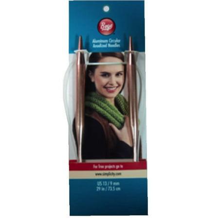 Boye Circular Aluminum Knitting Needles, Size 13 - Walmart.com
