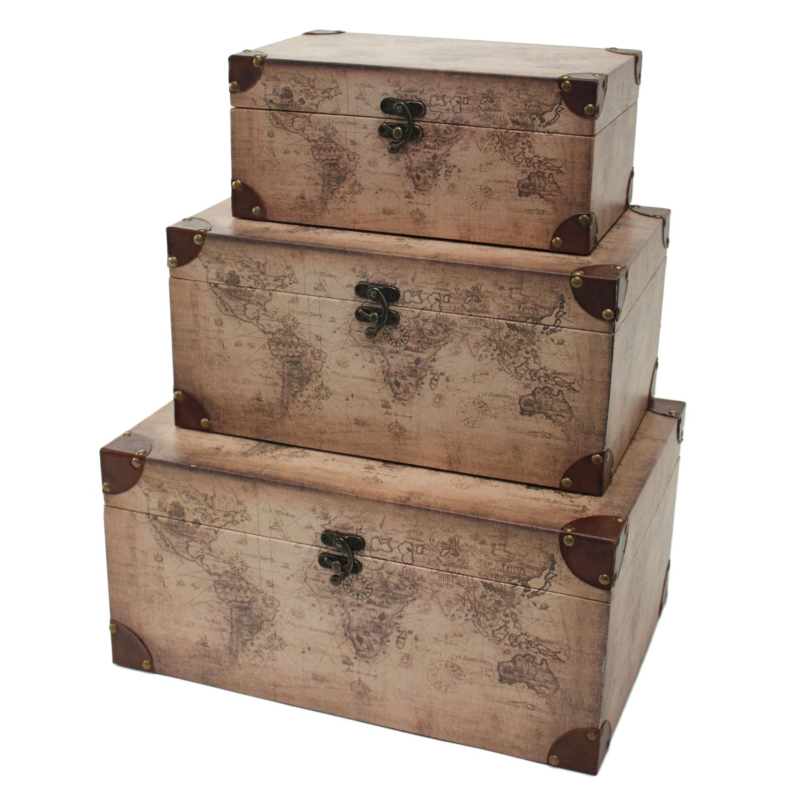 Aspire Home Accents Windsor Rectangular Trunks - Set of 3