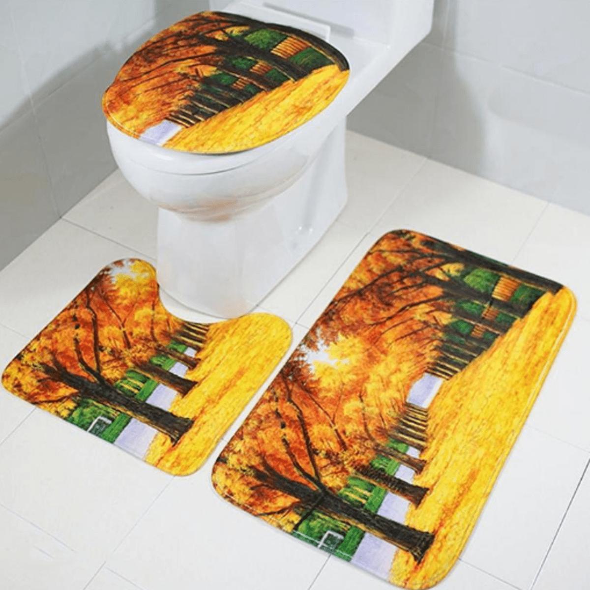 Forest Oil Painting Style Print Waterproof Mildew Proof