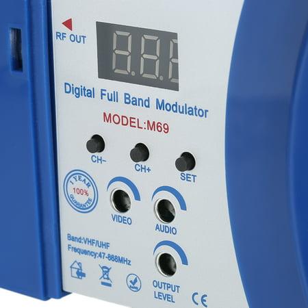 Compact RF Modulator Audio Video TV Converter RHF UHF Signal Amplifier