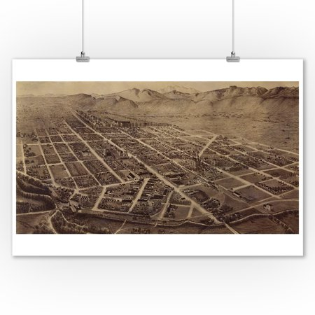 Fort Collins, CO Panoramic Map - 1899 (9x12 Art Print, Wall Decor Travel Poster)](Party City Fort Collins Co)
