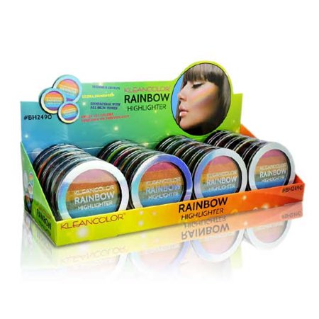 KLEANCOLOR Rainbow Highlighter Display Set 24 pieces