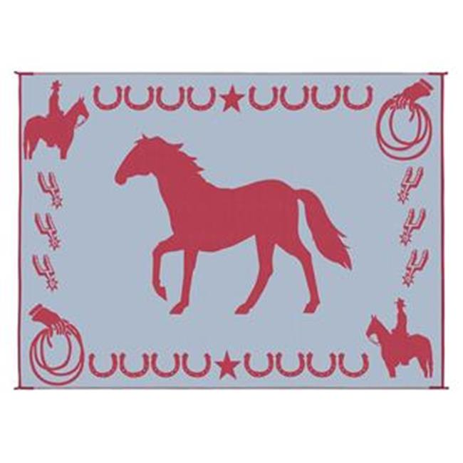 MINGS MARK LK5 Horse Mat 9x12 Burgundy, White