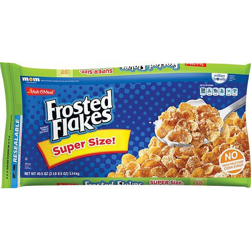 Malt-O-Meal Frosted Flakes Cereal, 40.5 oz