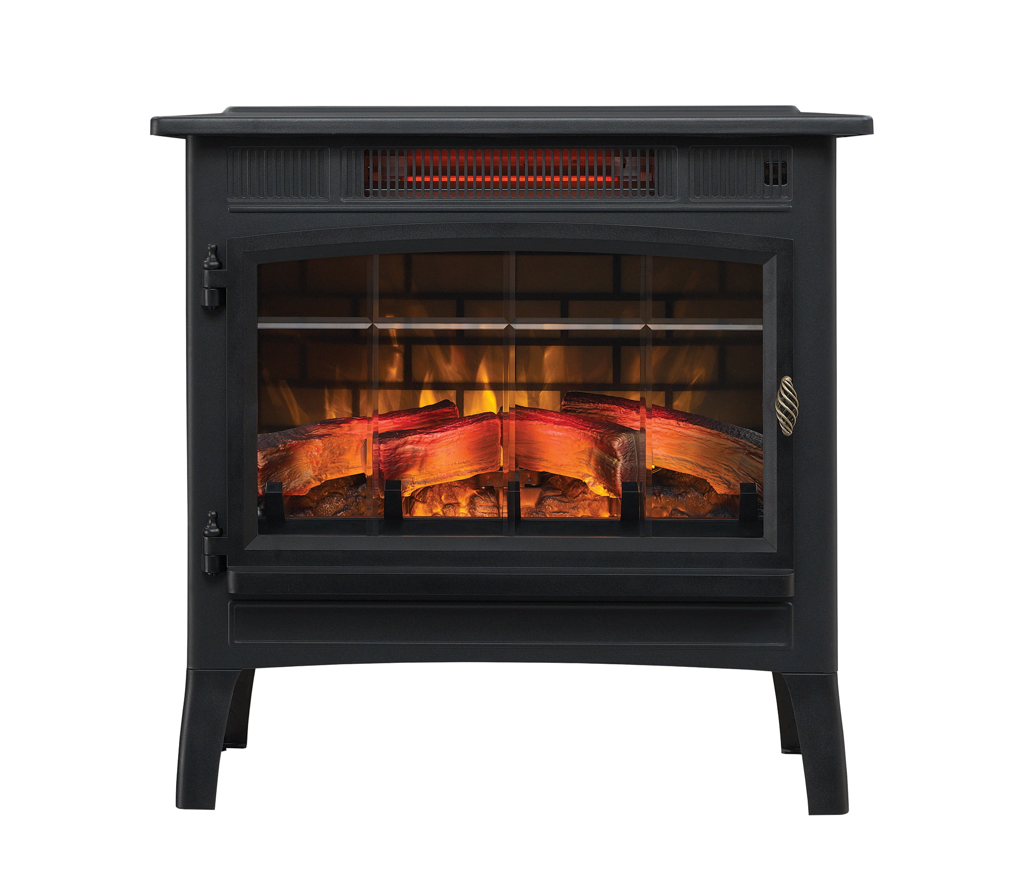 Duraflame Infrared Quartz Fireplace Stove with 3D Flame Effect, Black by Twin-Star International
