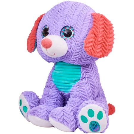 "Spark. Create. Imagine. 15.5"" Plush Bright Eye Puppy, Purple, Designed for Ages 3 and Up"