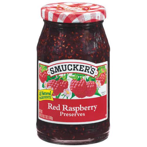 Smucker's: Red Raspberry Preserves, 18 Oz