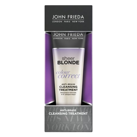 John Frieda Sheer Blonde Colour Correct Anti-Brass Cleansing Treatment, 4 Oz